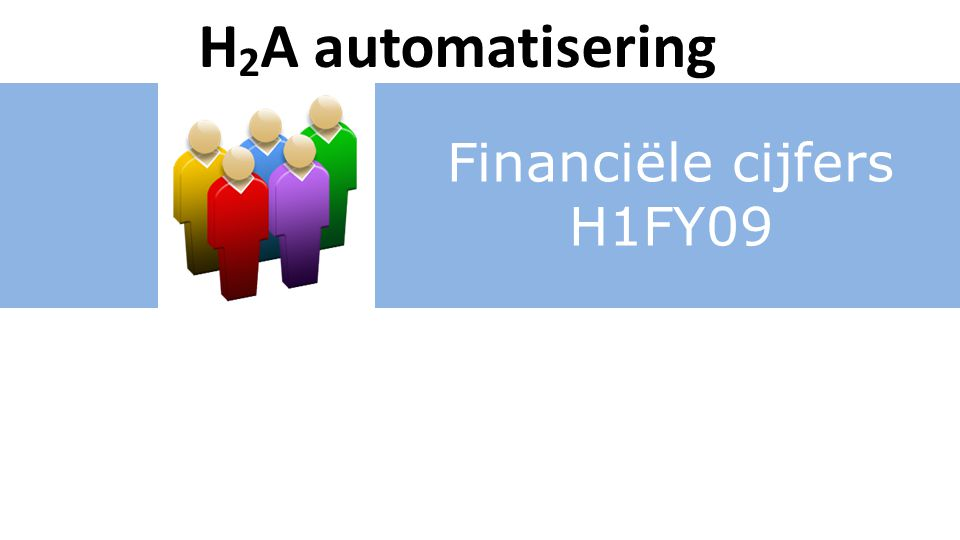 Financiële cijfers H1FY09 H 2 A automatisering