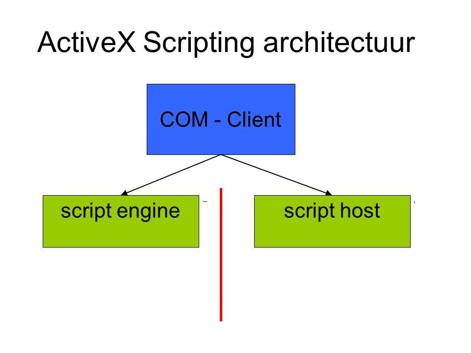 ActiveX Scripting architectuur script engine COM - Client script host