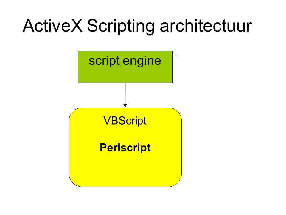 ActiveX Scripting architectuur script engine VBScript Jscript Perlscript Python Tcl VBScript Perlscript