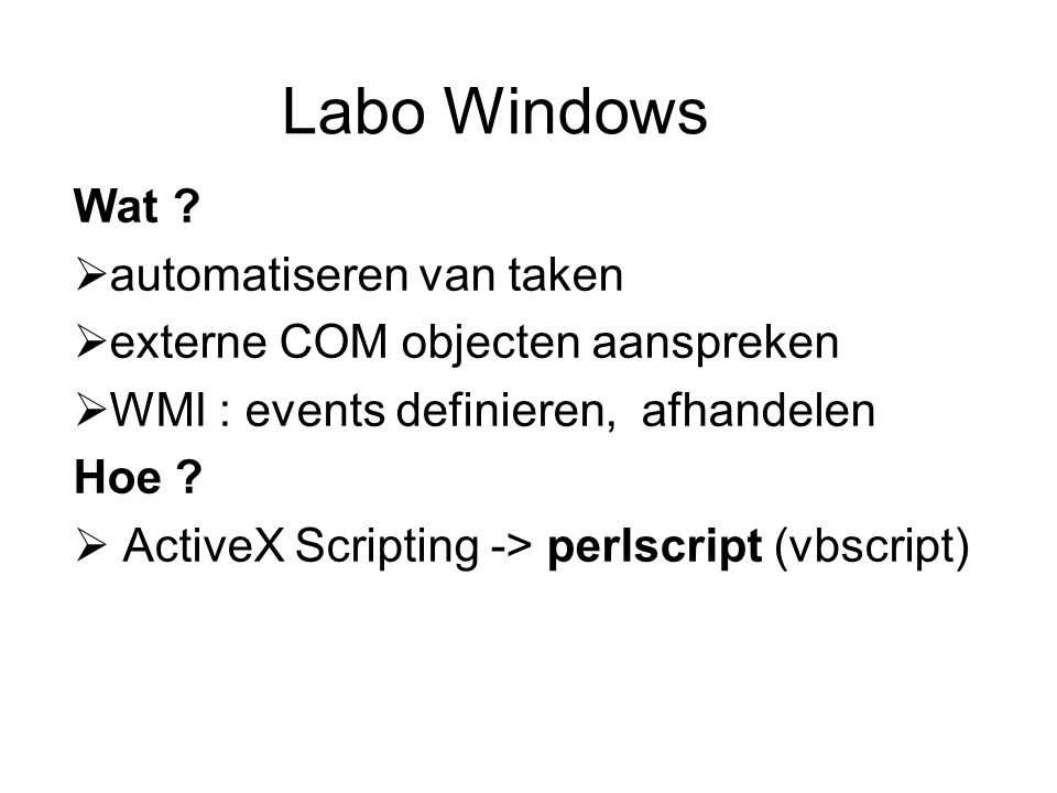 Labo Windows Wat .