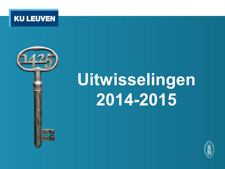 Uitwisselingen 2014-2015