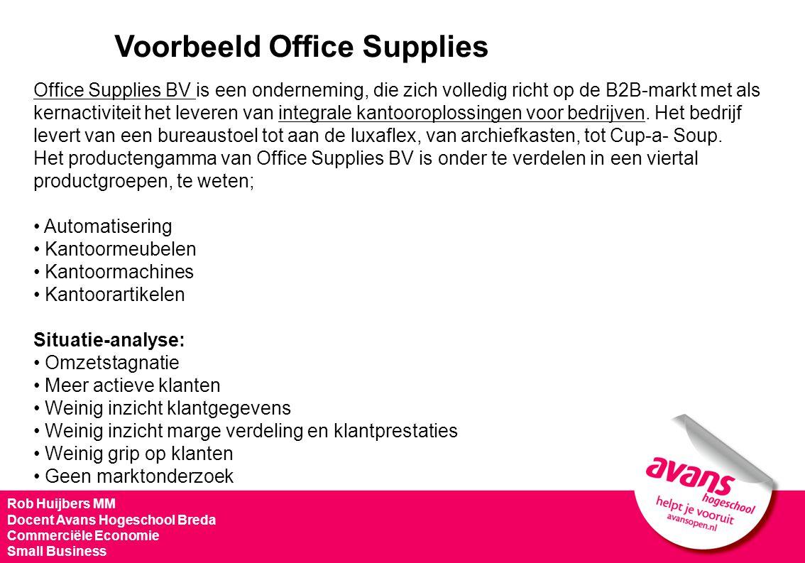 Voorbeeld Office Supplies Rob Huijbers MM Docent Avans Hogeschool Breda Commerciële Economie Small Business Office Supplies BV is een onderneming, die