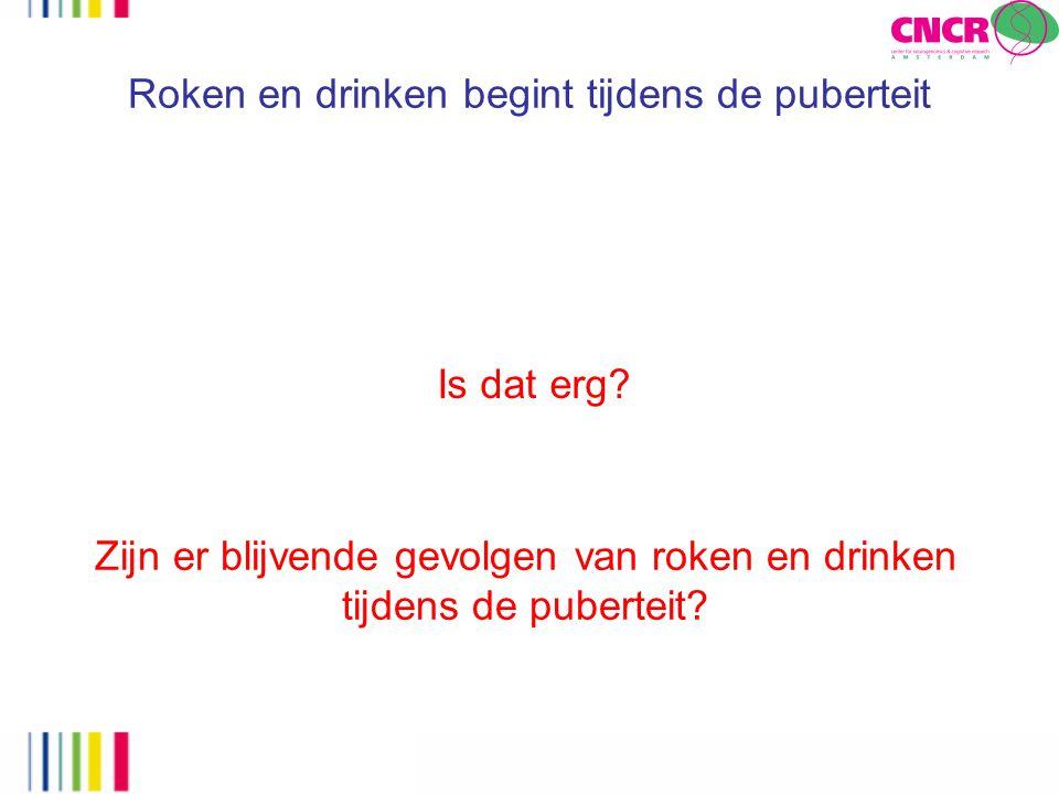 Roken en drinken begint tijdens de puberteit Is dat erg? Zijn er blijvende gevolgen van roken en drinken tijdens de puberteit?
