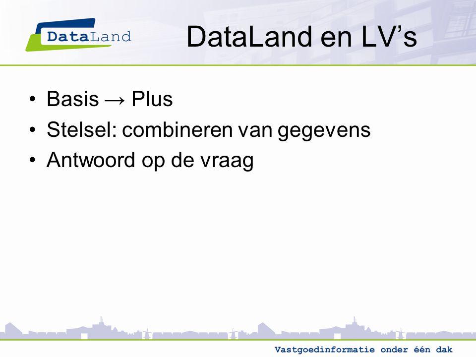 DataLand en LV's Basis → Plus Stelsel: combineren van gegevens Antwoord op de vraag