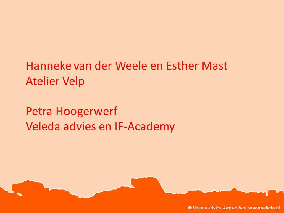© Veleda Advies Amsterdam www.veleda.nl Deze workshop is ontwikkeld door Veleda advies en Atelier Velp © Veleda Advies, Amsterdam Gebruikte bronnen: Vonkl.