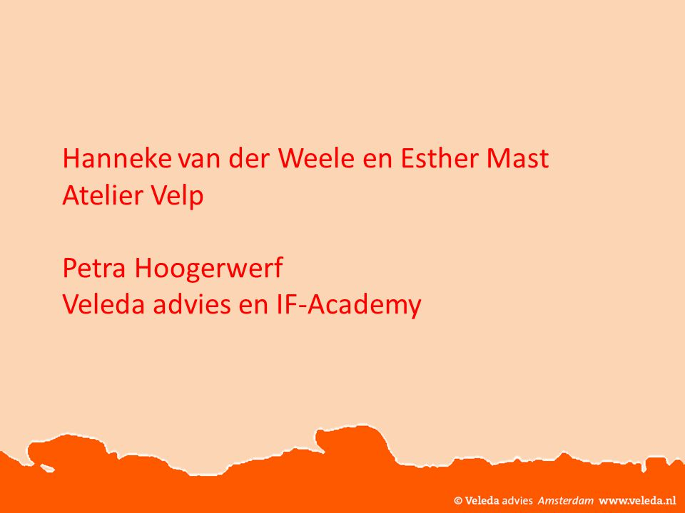 © Veleda Advies Amsterdam www.veleda.nl Vonk! Vertrouwen Verbinding Voortgang Vrijwilligheid