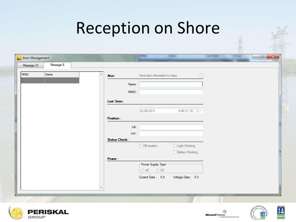 Reception on Shore