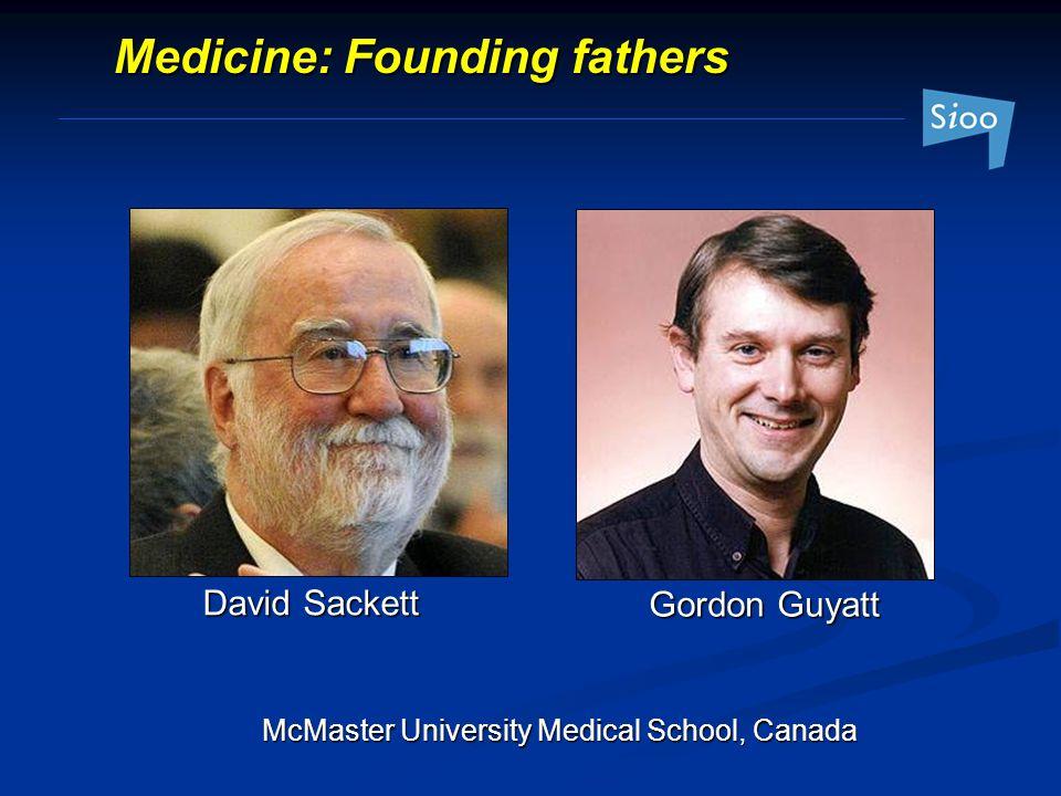 McMaster University Medical School, Canada Medicine: Founding fathers David Sackett Gordon Guyatt