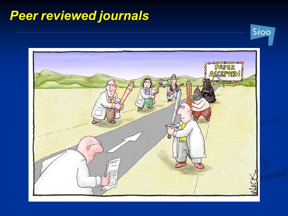 Peer reviewed journals