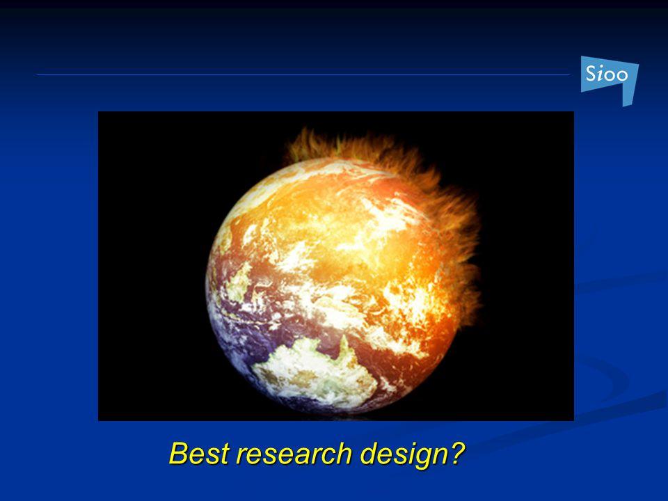 Best research design?