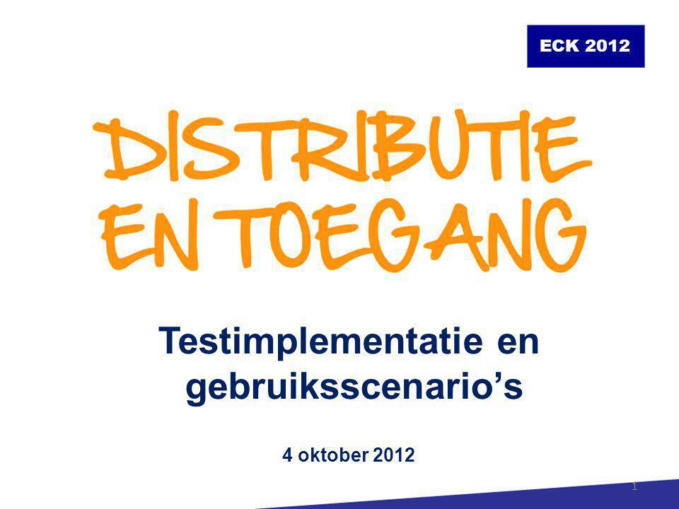 Agenda 14.00Projectstatus en -plannen 14.30Gebruiksscenario's 16.00Technische implementatie 2