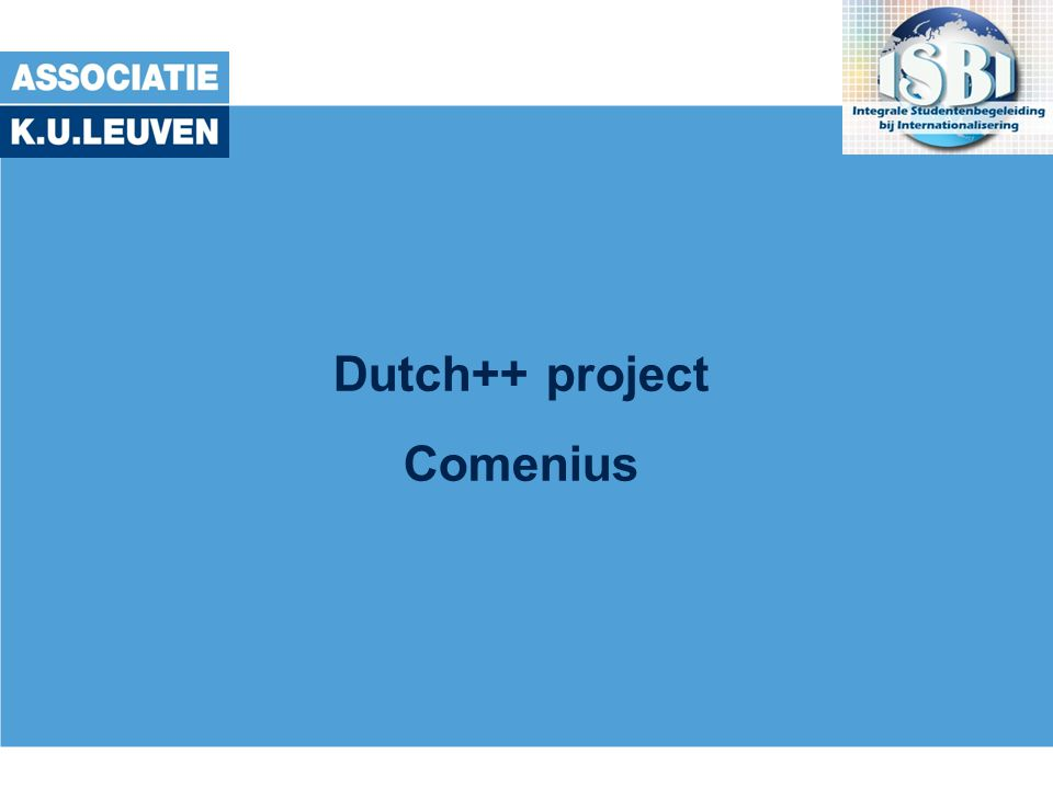 Dutch++ project Comenius
