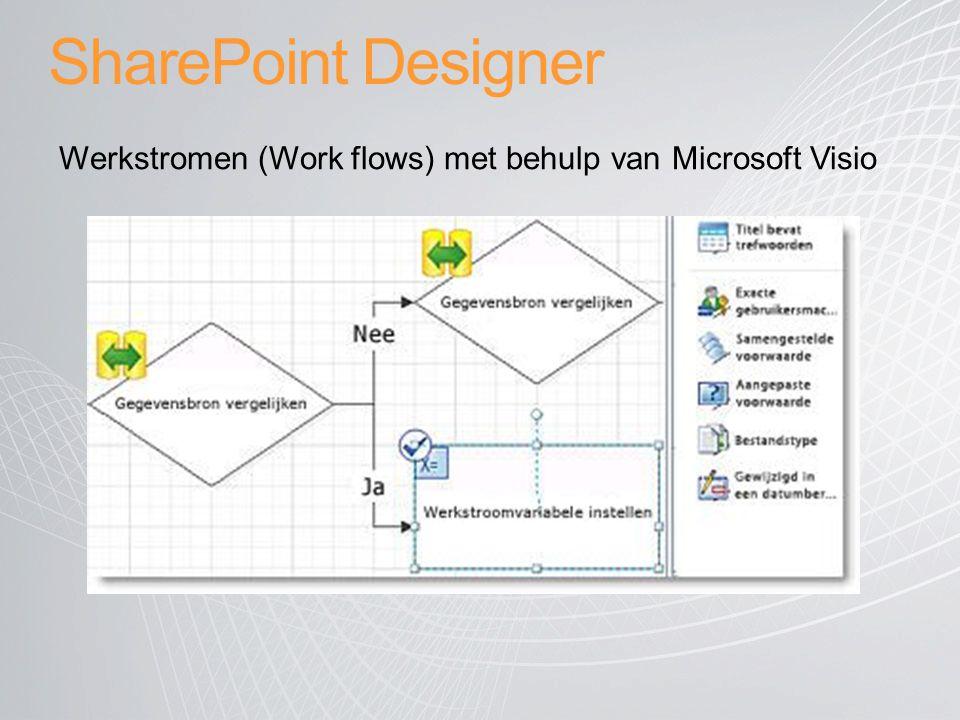 SharePoint Designer Werkstromen (Work flows) met behulp van Microsoft Visio