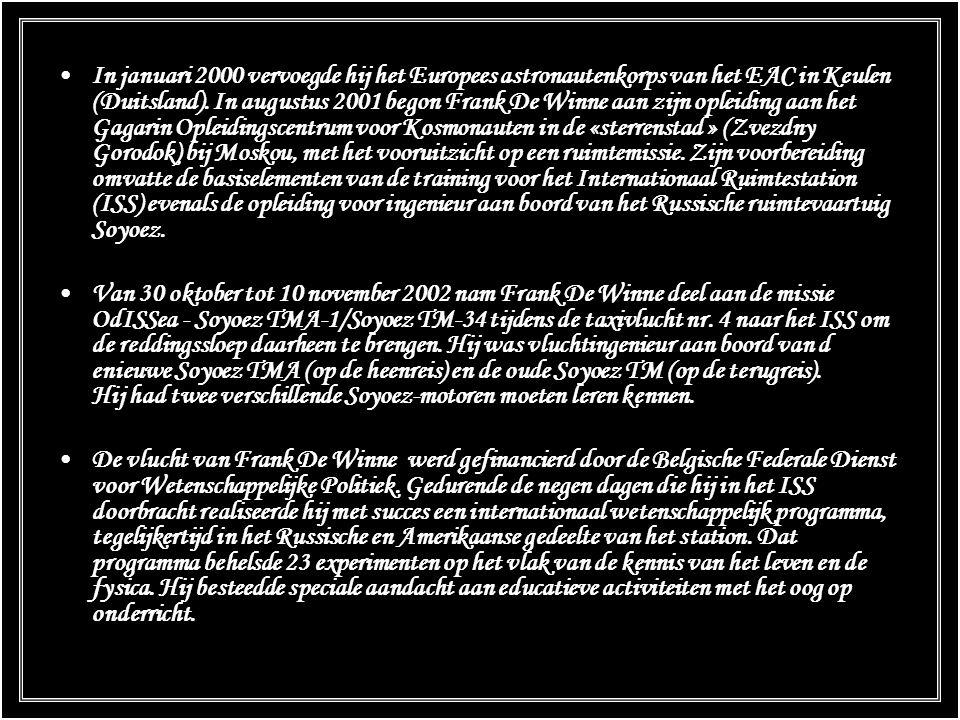 Na zijn ruimtevlucht verleende de Belgische koning Albert II hem in december 2002 de titel van burggraaf. Hij is officier van de ordes van Leopold I e