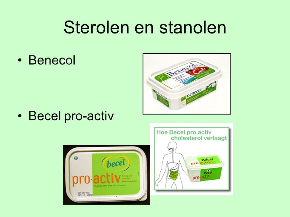 Sterolen en stanolen Benecol Becel pro-activ
