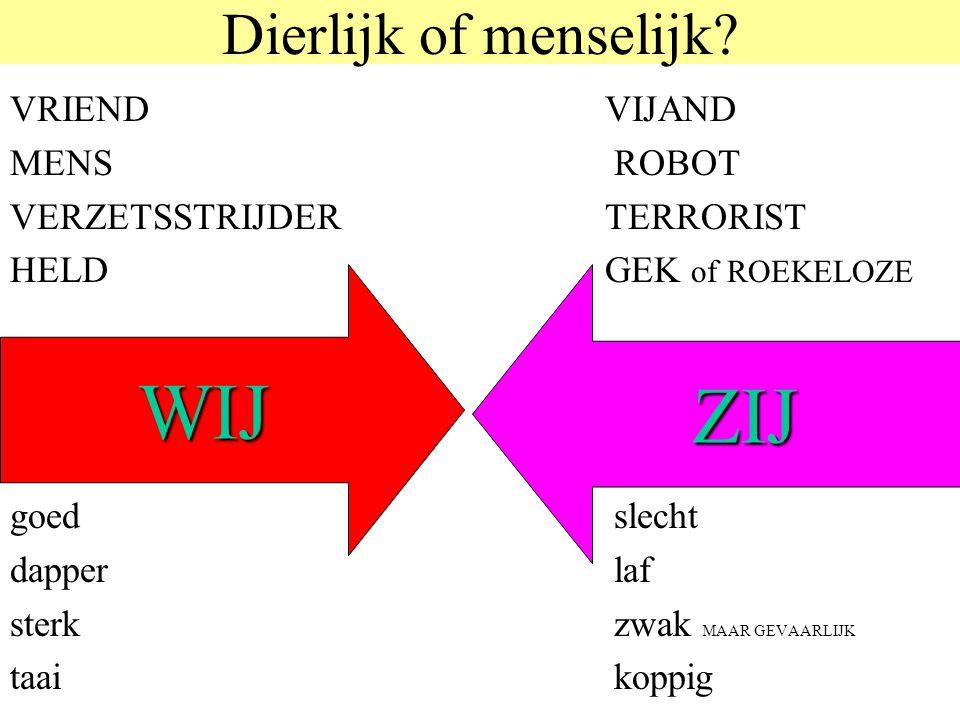 © 2006 JP van de Sande RuG Dierlijk of menselijk.
