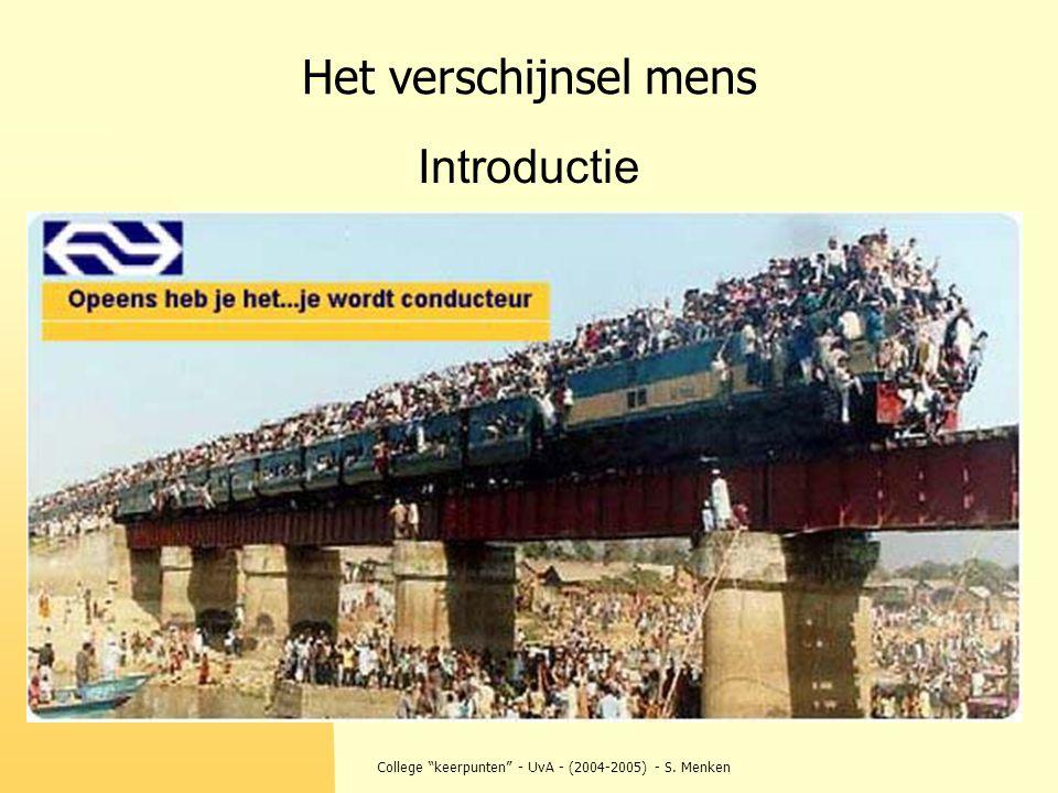 """College """"keerpunten"""" - UvA - (2004-2005) - S. Menken Het verschijnsel mens Introductie"""