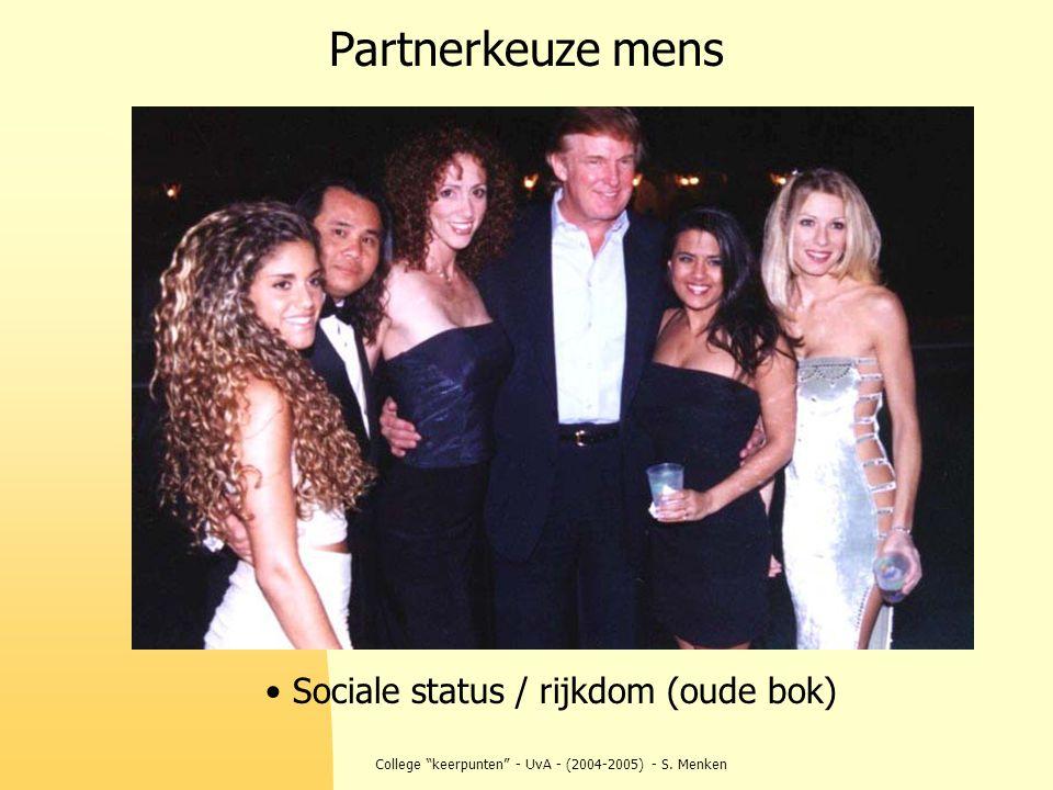 """College """"keerpunten"""" - UvA - (2004-2005) - S. Menken Partnerkeuze mens Sociale status / rijkdom (oude bok)"""