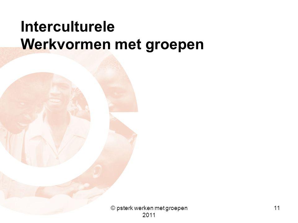 11 Interculturele Werkvormen met groepen © psterk werken met groepen 2011