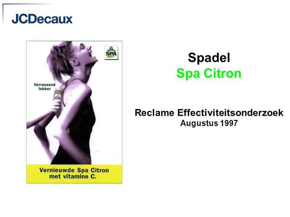 Spadel Spa Citron Reclame Effectiviteitsonderzoek Augustus 1997