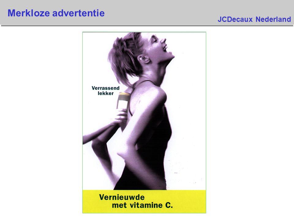 JCDecaux Nederland Merkloze advertentie