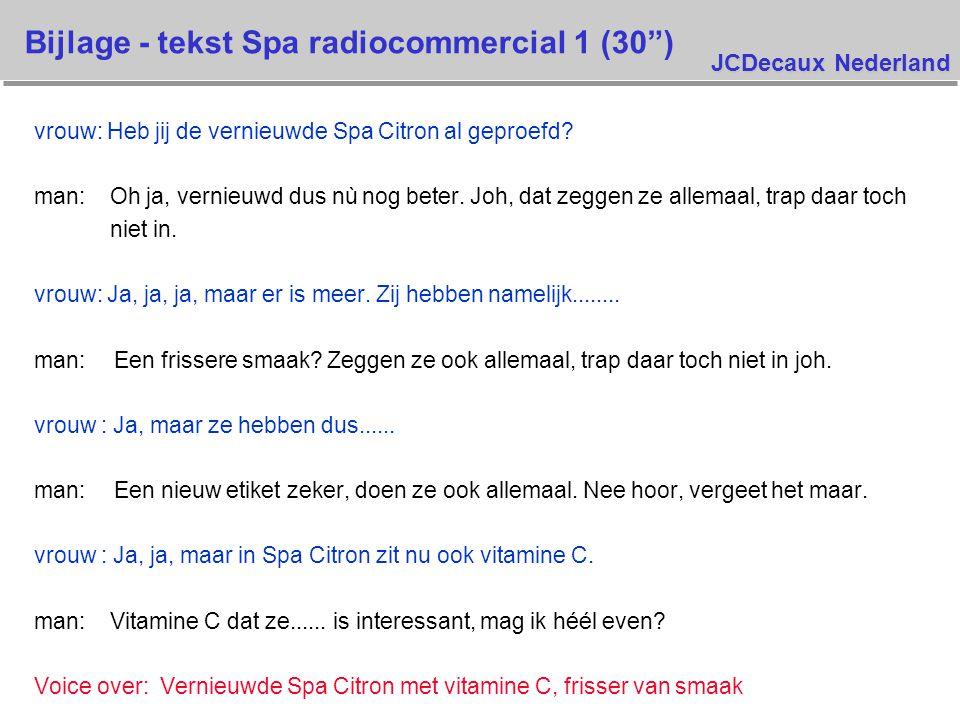JCDecaux Nederland vrouw: Heb jij de vernieuwde Spa Citron al geproefd.