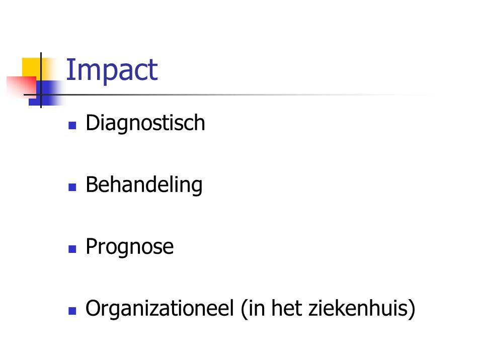 Impact Diagnostisch Behandeling Prognose Organizationeel (in het ziekenhuis)