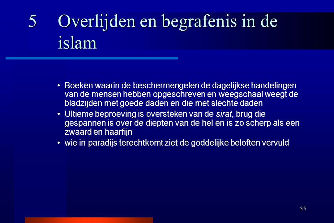 35 5Overlijden en begrafenis in de islam Boeken waarin de beschermengelen de dagelijkse handelingen van de mensen hebben opgeschreven en weegschaal we