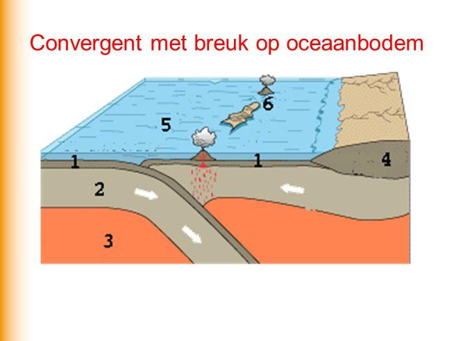 Convergent met breuk op oceaanbodem