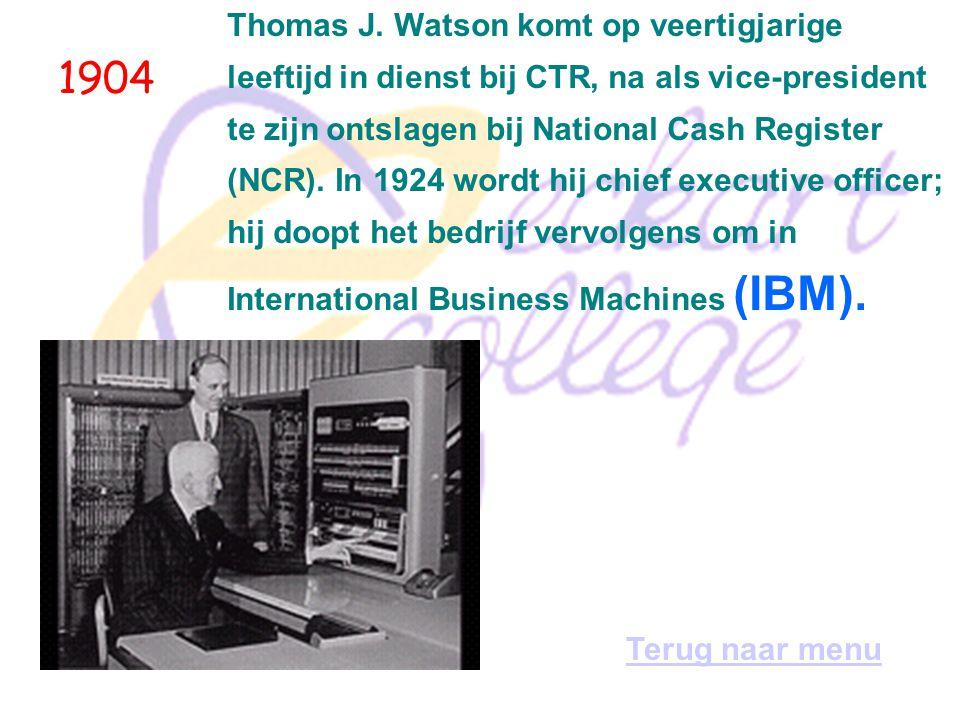 1894 Voormalig bankemployee William S. Burroughs start de productie van een telmachine die de getallen op papier kan afdrukken. Terug naar menu