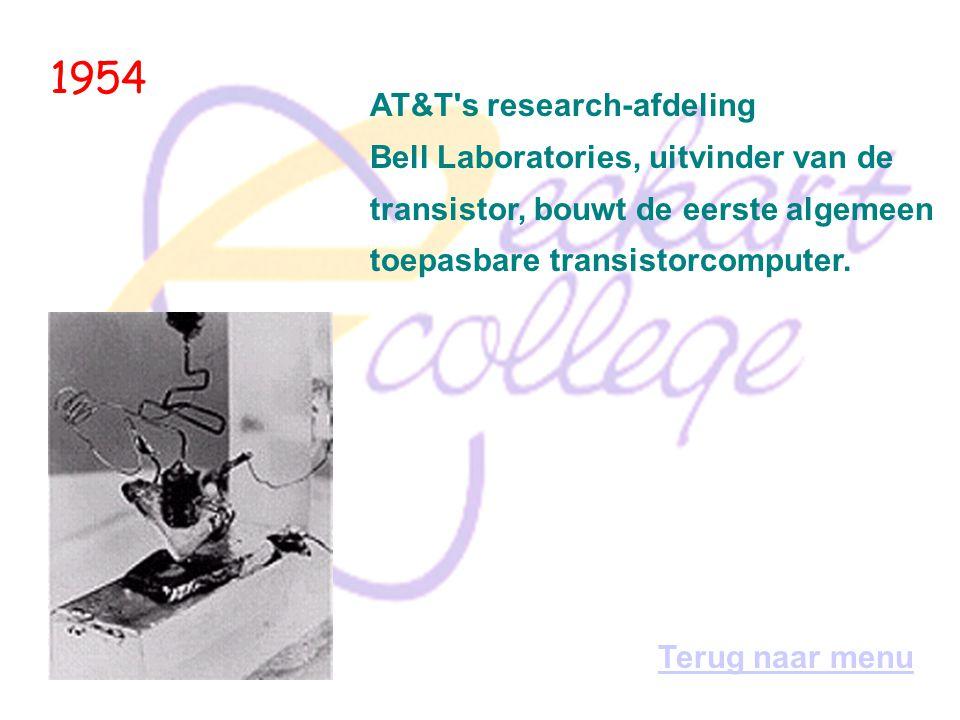1953 Ook Philips experimenteert met computers. Voor intern gebruik bouwt men tot 1960 drie computers: * de Peter (Philips Experimentele Tweetalige Ele
