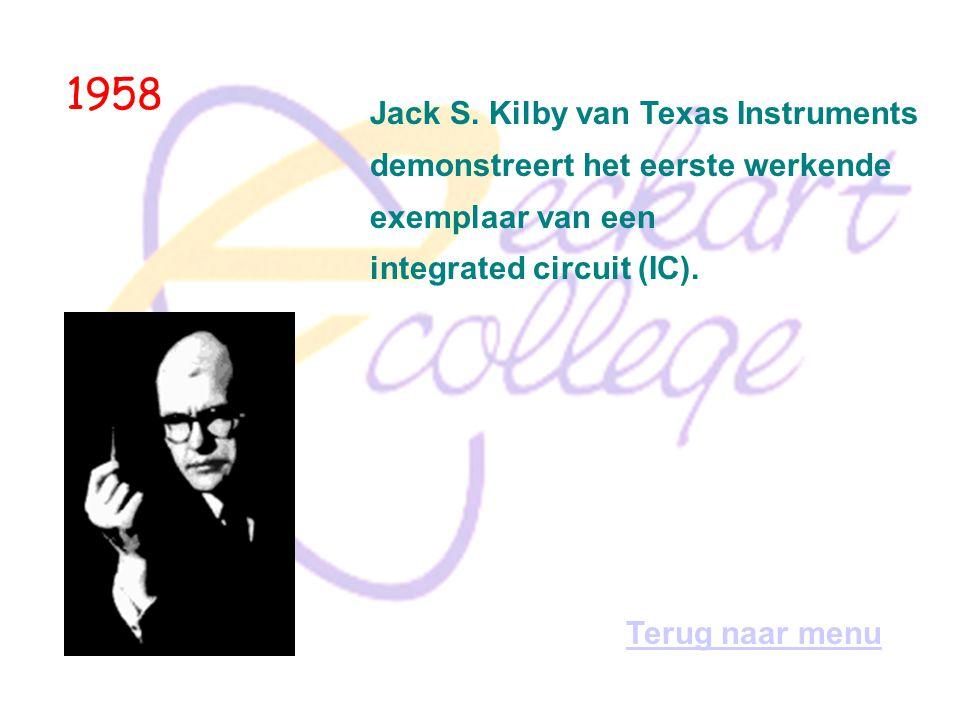 1958 John McCarthy ontwikkelt de taal Lisp (List Processor) voor onderzoek naar kunstmatige intelligentie. Terug naar menu