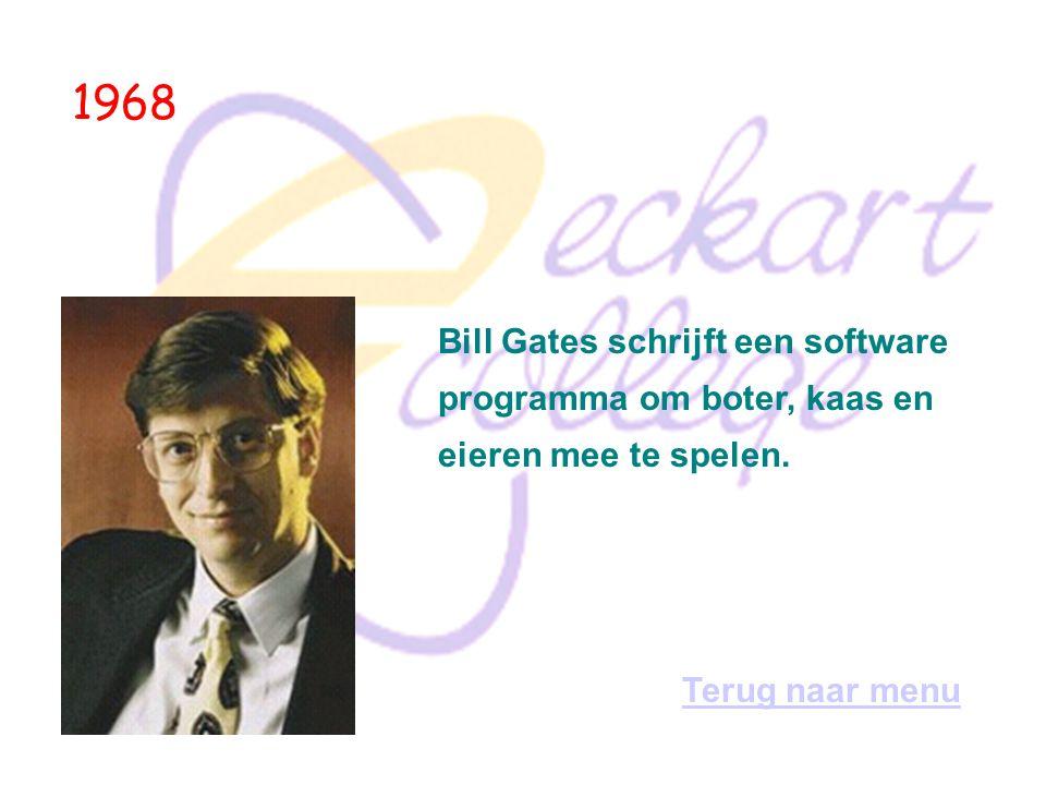 1964 Thomas Kurtz en John Kemeny demonstreren het eerste programma, geschreven in de door hen ontwikkelde taal Basic.