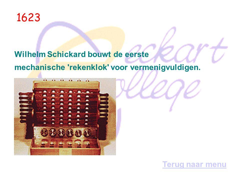 In den beginne... In China en Japan ontwikkelt men het abacus-telraam; 's werelds eerste mechanische 'telmachine'. 500 v. Chr Terug naar menu