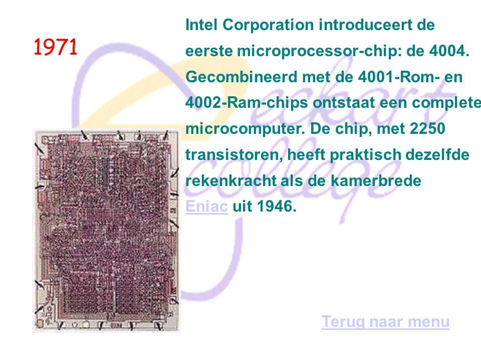 1970 TCP/ IP (Transmission Control Protocol/Internet Protocol) wordt ontwikkeld door Arpa, samen met daarboven draaiende andere protocollen als Telnet