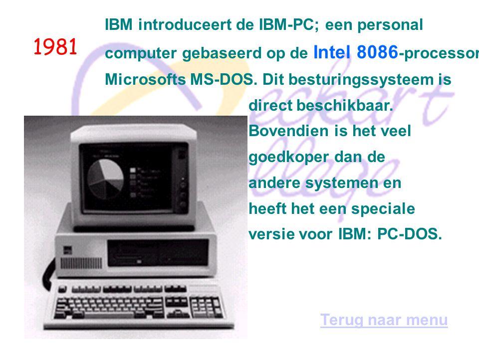 1980 In het jaar dat er wereldwijd 700.000 micro-, huis-, hobby- en personal computers in omloop zijn, wordt Ashton-Tate opgericht, de bouwers van dBase, het populairste database-pakket voor PC s.
