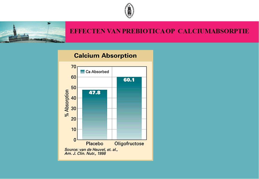 EFFECTEN VAN PREBIOTICA OP CALCIUMABSORPTIE
