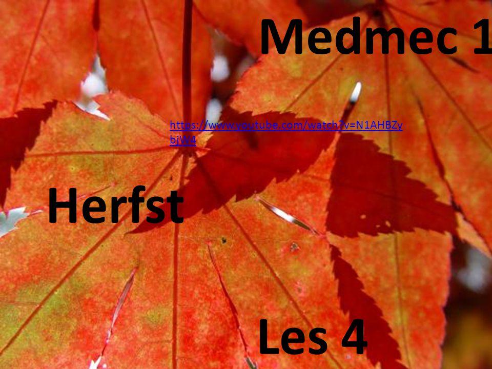 Medmec 1 Herfst Les 4 https://www.youtube.com/watch?v=N1AHBZy bjW4