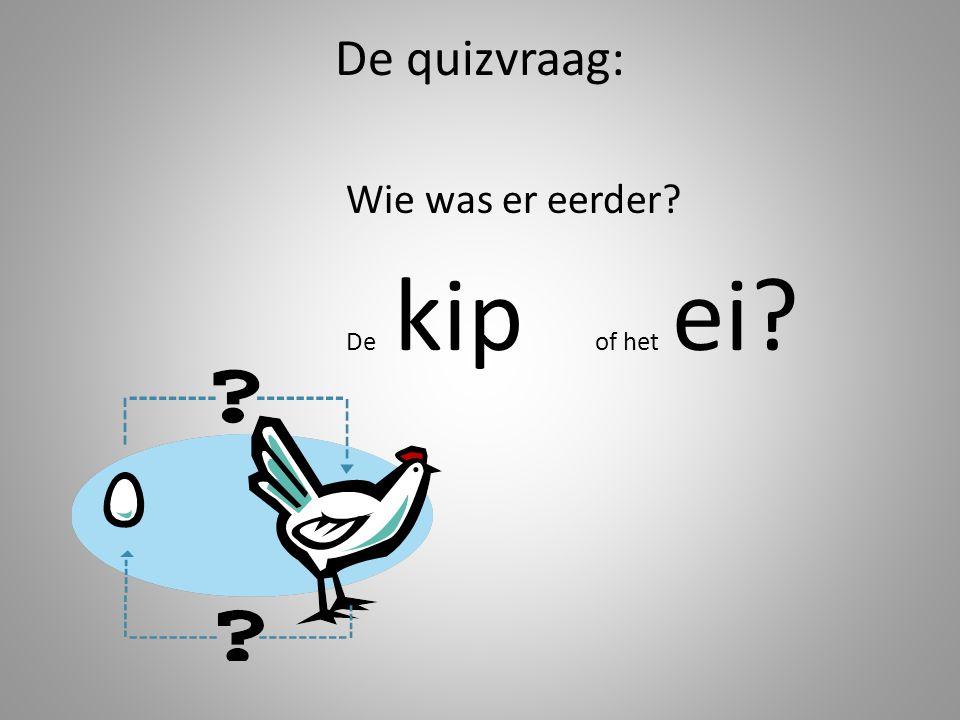 De quizvraag: Wie was er eerder? De kip of het ei?
