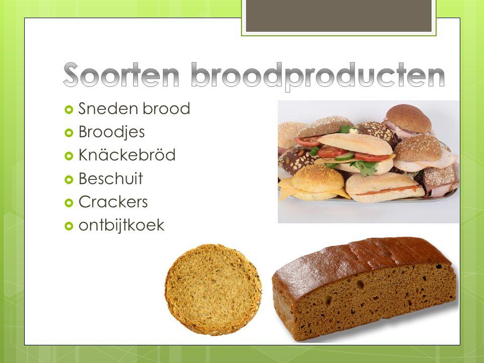  Sneden brood  Broodjes  Knäckebröd  Beschuit  Crackers  ontbijtkoek