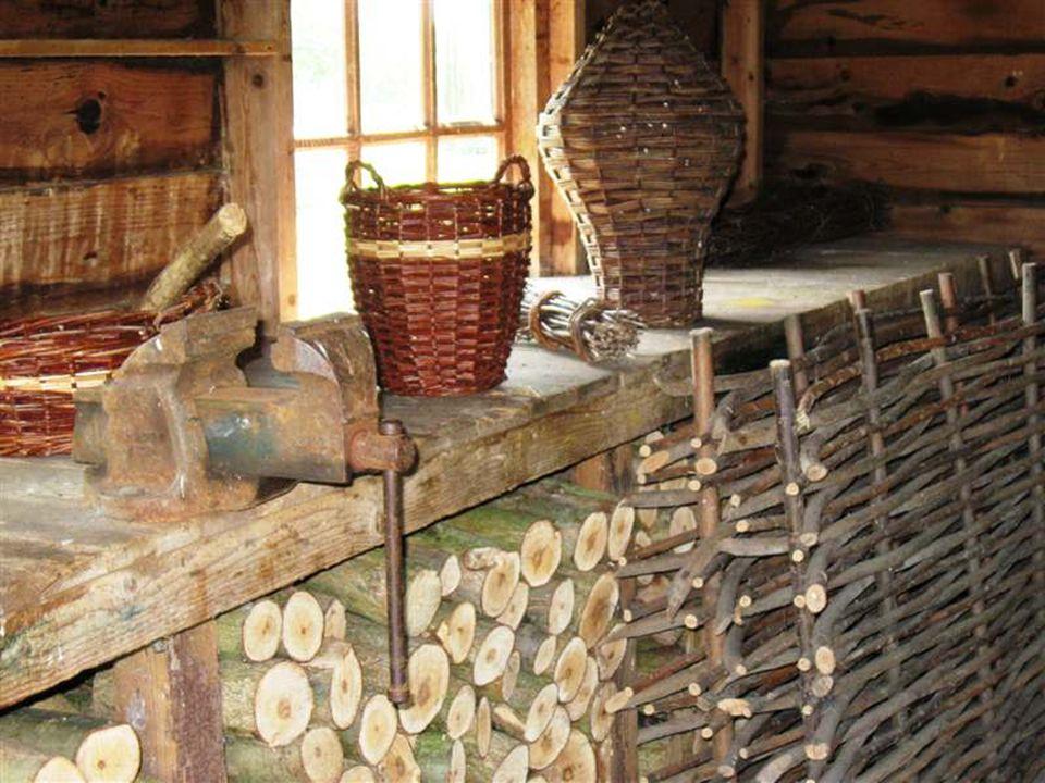 In de huisjes zijn oude beroepen te zien.