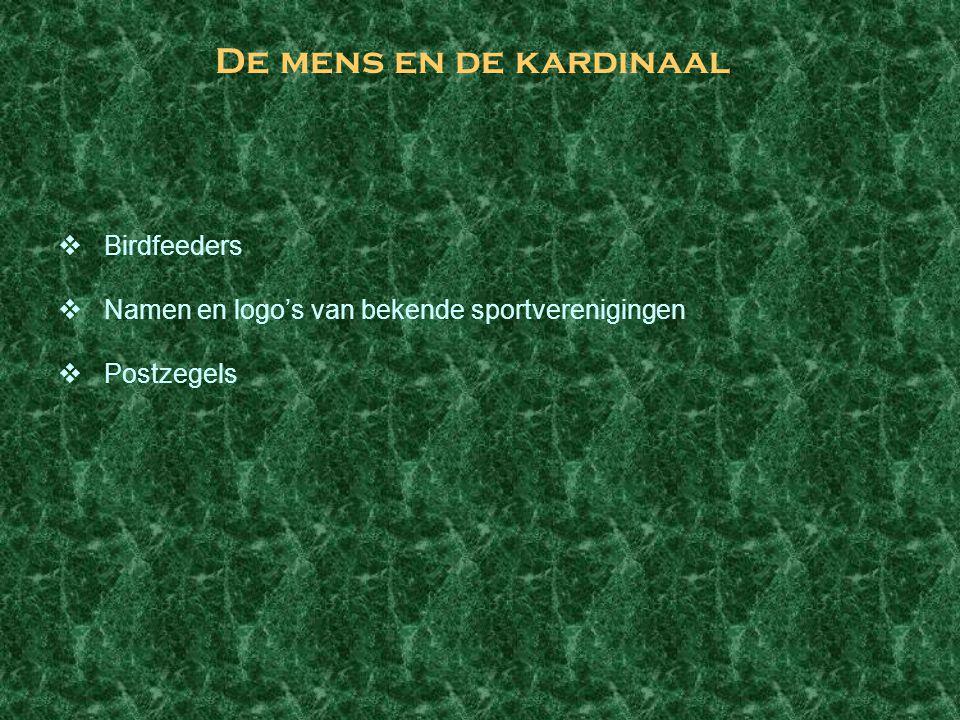 De mens en de kardinaal  Birdfeeders  Namen en logo's van bekende sportverenigingen  Postzegels