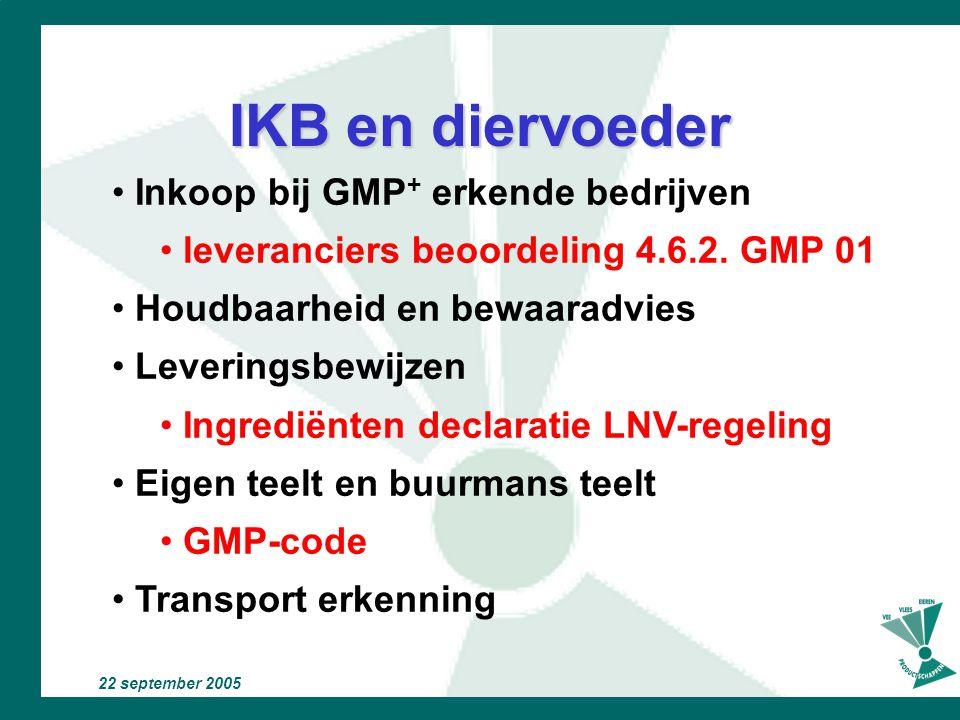 22 september 2005 Belangrijk voor het primaire bedrijf het erf dier VOER water medicijn omgeving dierenarts adviseur transport