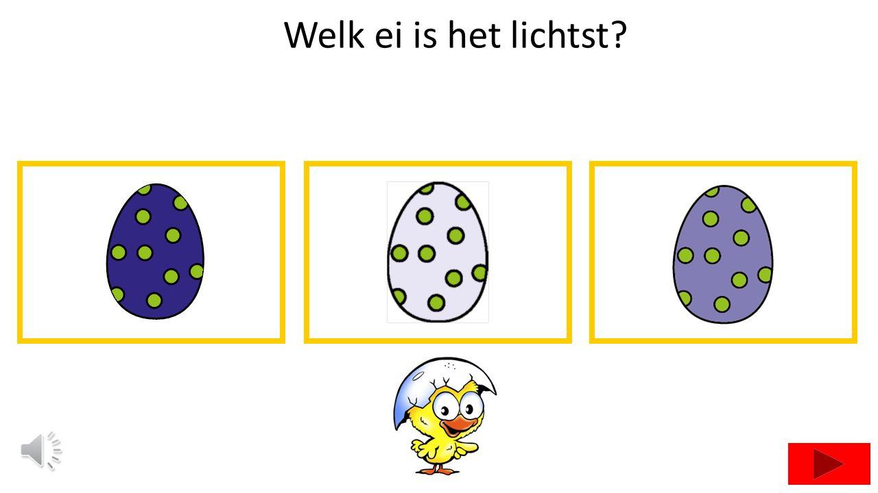 Welk ei is het lichtst?