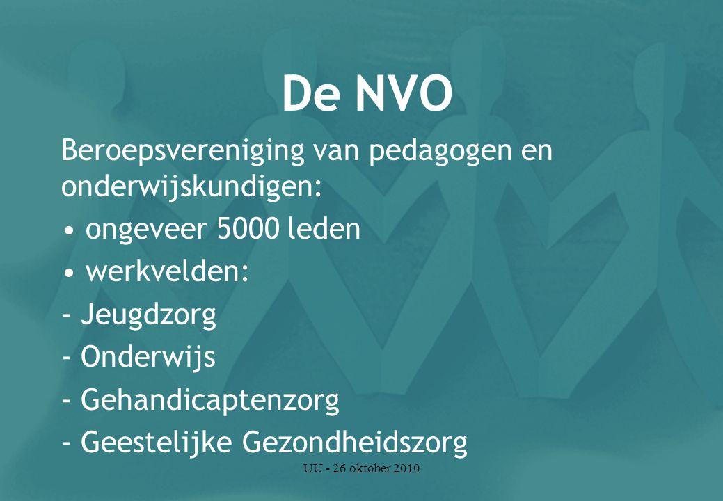 UU - 26 oktober 2010 Wat doet de NVO.