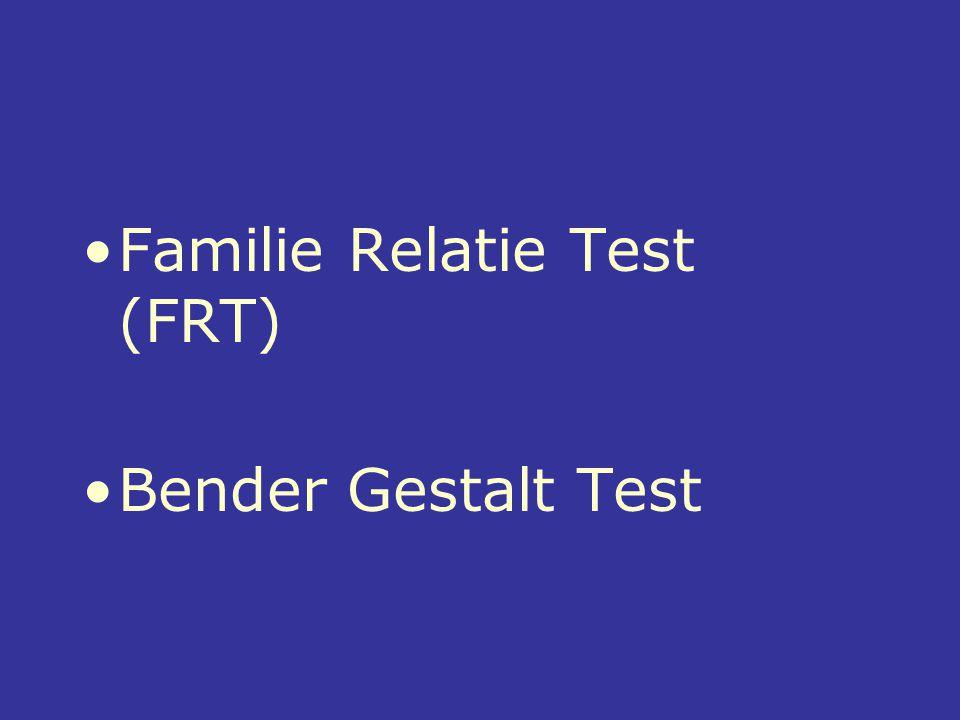 Familie Relatie Test (FRT) Bender Gestalt Test