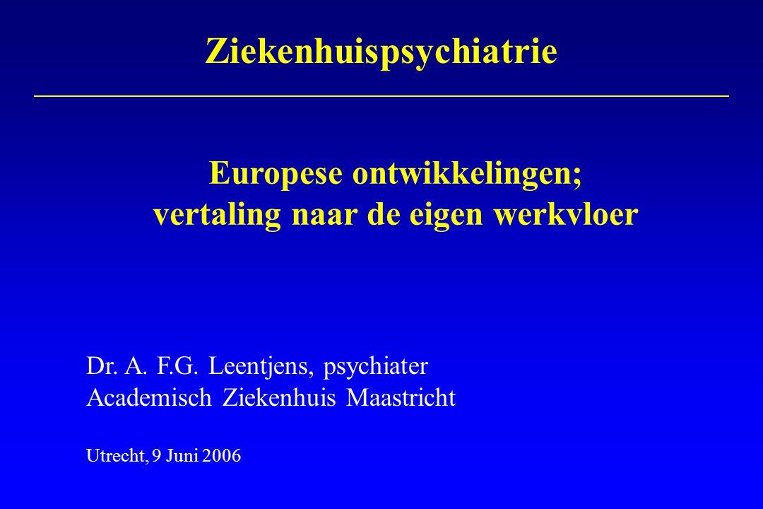 - EACLPP - Actuele ontwikkelingen binnen Europa - Toekomstperspectief Overzicht