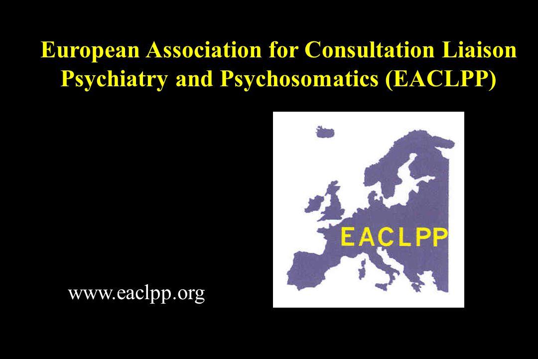 Ontstaan uit de 'European CL Workgroup' (ECLW) Opgericht in 1997 in Zaragoza (Spanje); secretariaat in Manchester (UK) Omvat alle EU lidstaten en Noorwegen, Zwitserland, Turkije Doelstelling: bevorderen van ziekenhuispsychiatrie, consultatieve psychiatrie en 'psychosomatics' De EACLPP