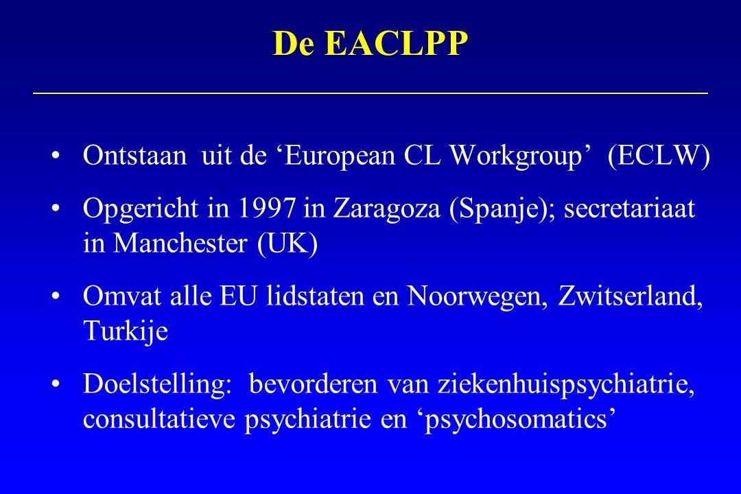 Jaarlijks EACLPP congres EACLPP sectie in het J Psychosom Res Werkgroepen rond speciale topics Website www.eaclpp.org Mailinglist De EACLPP: activiteiten