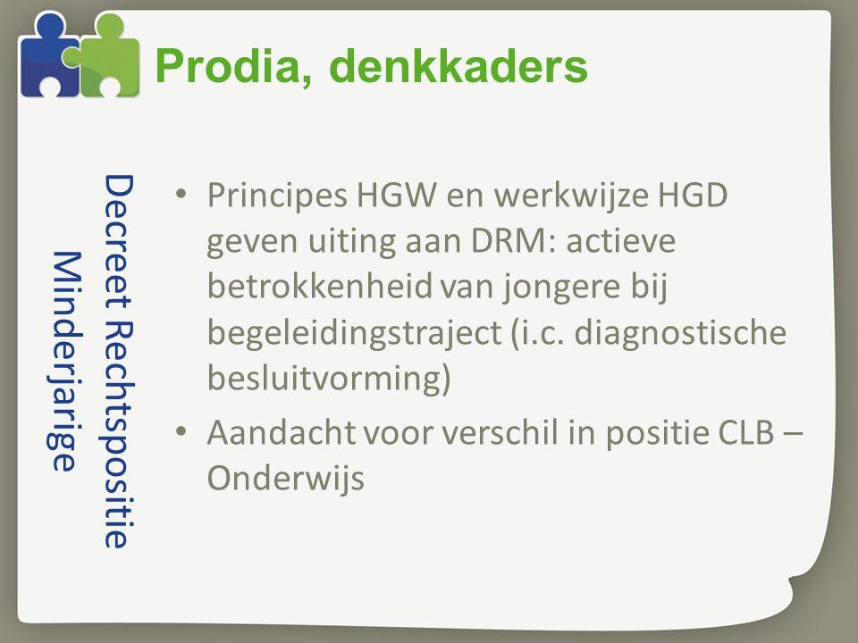 Decreet Rechtspositie Minderjarige Principes HGW en werkwijze HGD geven uiting aan DRM: actieve betrokkenheid van jongere bij begeleidingstraject (i.c.
